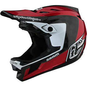 Troy Lee Designs D4 Carbon Helmet, corsa SRAM red
